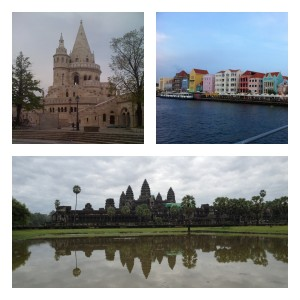 budapest, curaçao, cambodia