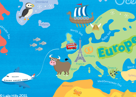European Travel Where In The World Is Lola - Map of europe for children