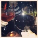 red, rose, white vino at AHA in siem reap