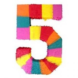 number-5-pinata