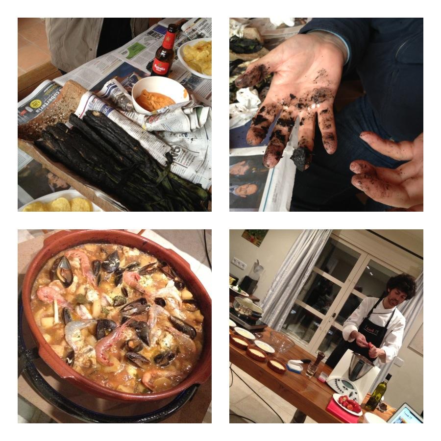 calcots & paella - mmm