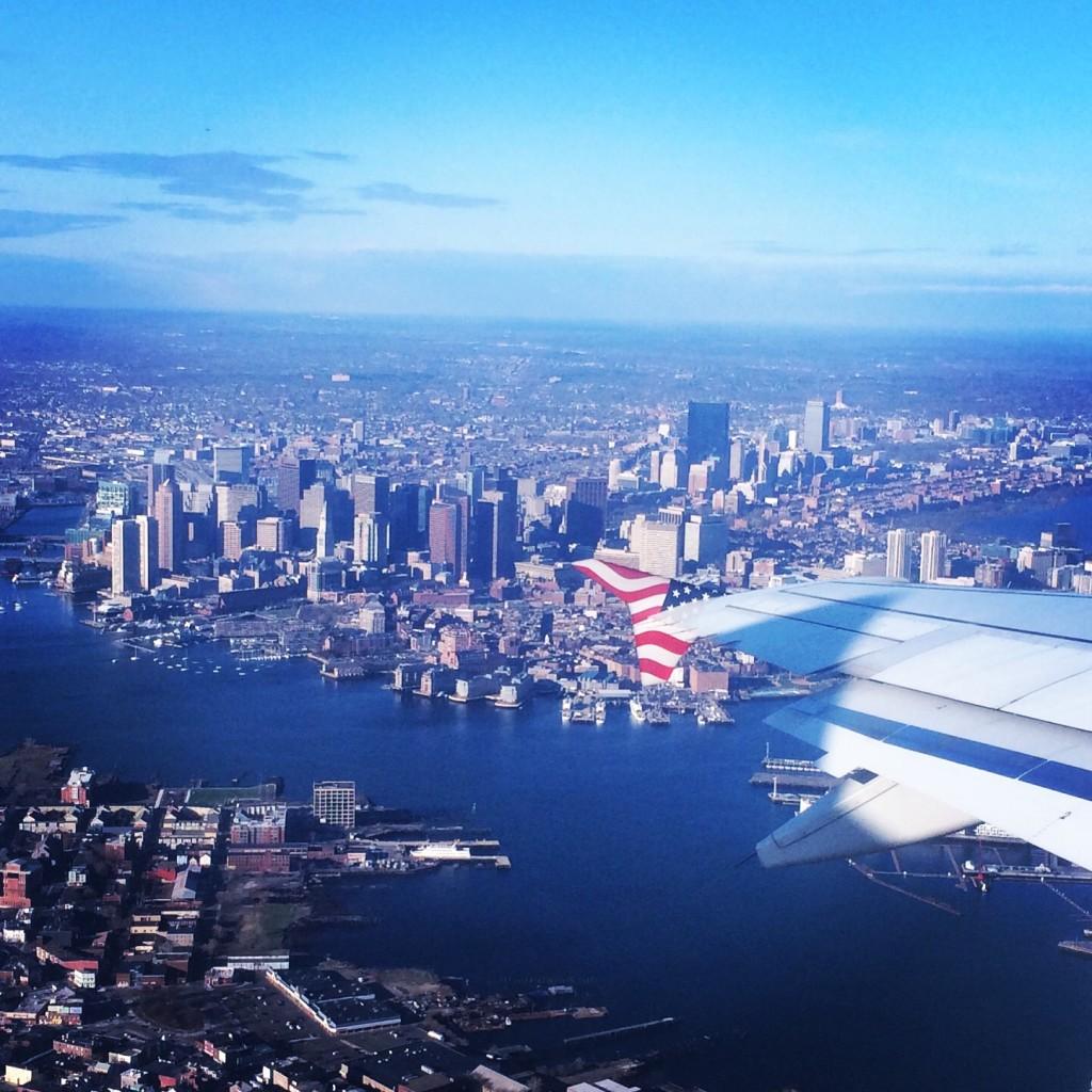 boston airplane view