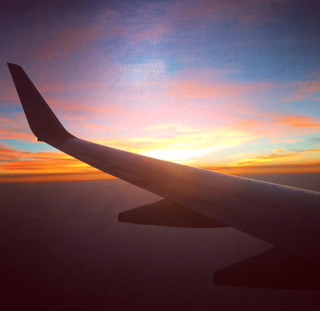 aerial atlantic sunset