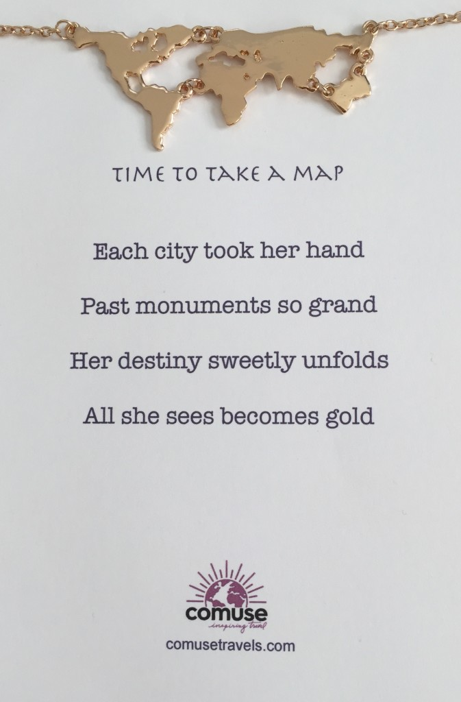 time to take a map necklace