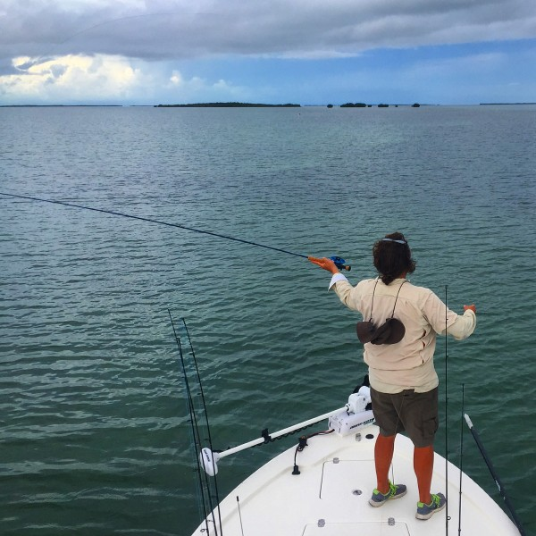 Craig fly fishing in the Florida Keys