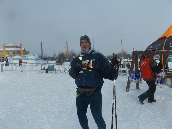 Me after skiing the Gatineau Loppet near Anita's home, but this photo has nothing to do with my 2017 bucket list item